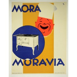 Original 1950's Czech Advertising Poster MORAVIA ovans
