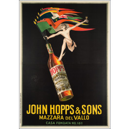 "Original Vintage Italian OVERSIZE poster ""John Hopps & Sons' Bazzi 1923"