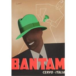 Vintage Italian BNTAM Hat Poster - Cervo -Italia