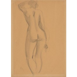 "Signed Pencil Drawing ""NUDE FEMALE"""