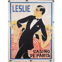 "French Poster by Gesmar  ""Leslie Casino de Paris"" 1926"