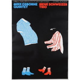 Vintage Swiss Advertising Poster Dance Performance MIKE OSBORNE IRENE SCHWEIZER