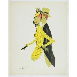 """Original Lithograph """"La Parisienne"""" GABRIEL DOMERGUE"""