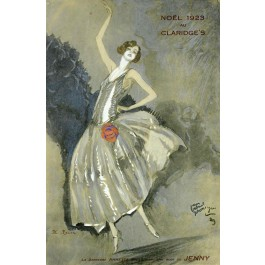 Original Claridge's Paris Menu Lithograph by GABRIEL DOMERGUE - Paris