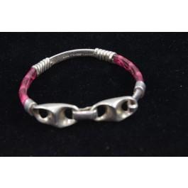 Animal Style Mexico Sterling 925 Silver Artisan Handmade Bracelet w Snake Skin
