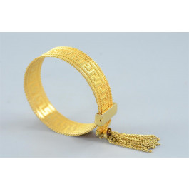 STUNNING! Vintage Gold-tone Mech Adjustable Bracelet w A. Greece style Design