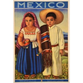 "Mexican Travel Poster ""Come and Visit Mexico"""