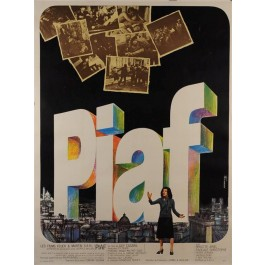 "Original Vintage French Movie Poster ""PIAF"" by Guy Casaril 1974"