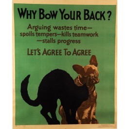 "Poster Mother & Co Chicago ""Why Bow Your Back?"" 1920's"