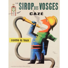 "Original Vintage French Ad Poster ""Sirop des Vosges"" by Jean Carlu 1950"