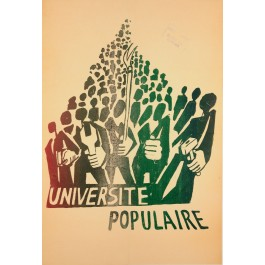 "Original Vintage French Poster ""Universite Populaire"" MAY 1968 Protests"