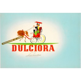 "Original Vintage Small Italian Poster for ""Dulciora"" Chocolate 1920's"