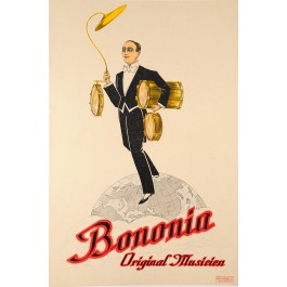 "Original Vintage Italian Music Advertising Poster ""Bononia"" ca. 1930"