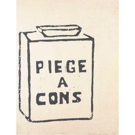 "French Student Revolution Poster ""PIEGE A CONS"""