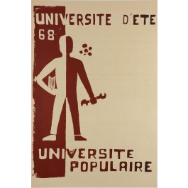 """Original Vintage French Propaganda Poster """"Pouvoir Populaire"""" May 1968"""