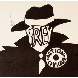 "French Student Revolution Poster ""Frey Action Civique"""
