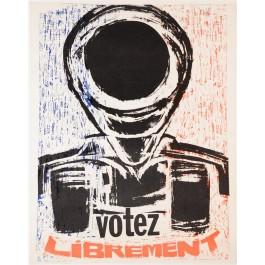 "French Student Revolution Poster ""Votez Librement"""