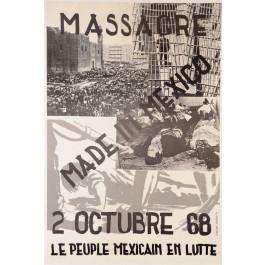 "Propaganda Poster ""Tlatelolco Massacre"" by OSCAR-PARIS 1971"