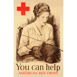 "American Advertising Poster ""You Can Help"" by Benda"