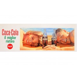 Original Vintage Poster Print Advertising Coca Cola Probably 1980's