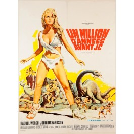 """Original Vintage French Movie Poster """"Un Million D'annees Avant J.C."""" 1966"""