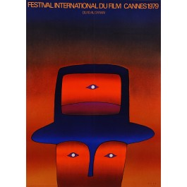 "Original Vintage French Poster ""Festival International Du film Cannes"" by Folon 1979"