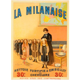 "Original Vintage French Poster ""La  Milanaise"" by Cappiello ca. 1910"