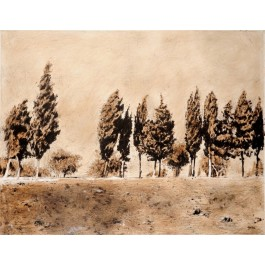 Original Acrylic On Canvas Landscape of Jerusalem From the series  of Jerusalem 3000 by Arie Azene 1992.