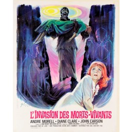 "French Poster ""L'Invasion des Morts-Vivants, (1966)"""