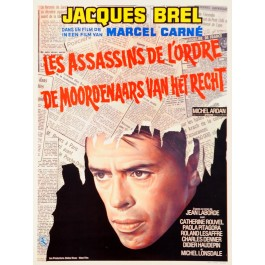 Original Vintage Movie Poster with Jaccques Brel 1970's