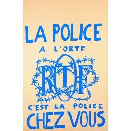 "Original Vintage French Student Revolution  ""La Police"" 1968"