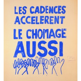 "Original Vintage French 1968 Student Revolution Poster ""le Cadences"""