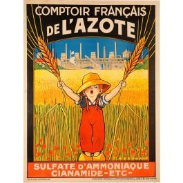 """French Advertising Poster """"Comptoir Français de l'AzoteM"""""""