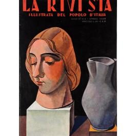 """Original Italian Magazine Cover """"La Rivista – Il Popolo d´Italia"""" April 1928"""