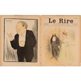 """Original lithograph by Cappiello & Forain from the Magazine """"Le Rire"""" 1899"""