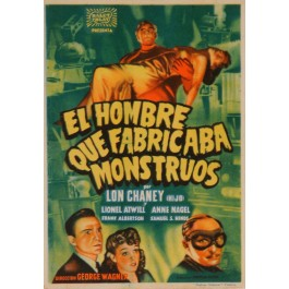 "Original Vintage Spanish Movie Poster ""El Hombre Que Fabica Monstruos"" - Valenca Grapicas"