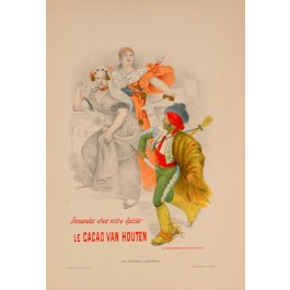"Original Vintage French Lithograph ""Les Affiches Illustrees"" by A. Willette 1890's"