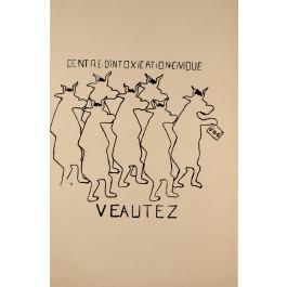 "French Student Revolution Poster ""VEAUTEX"""