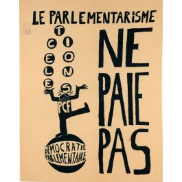 "Original Vintage French Poster ""Parliamentary Democracy"" Student Revolution 1968"