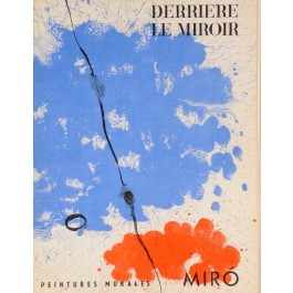 Derriere le Miroir (DLM) No. 128, JOAN MIRO LITHO June 1961 w/7 Color Lithograph
