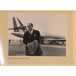 RARE! Vintage ALITALIA Airline Photo Album Distinguished Passengers 1960's