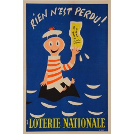 "Loterie Nationale Poster ""Rien N´est Perdu!"""