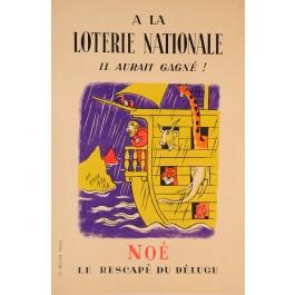 "Original Vintage Loterie Nationale Poster ""NOE""  ca. 1940"