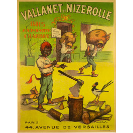 "Original Vintage French Poster ""Vallanet et Nizerolle"" by Francisque Poulbot"