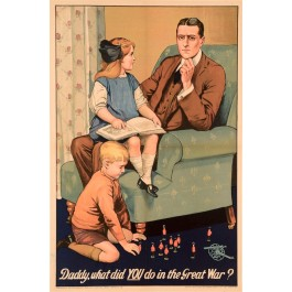 "British Propaganda ""Daddy What did you do in the Great War?"""