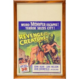 "Horror American Movie Poster ""Revenge of the Creature"" 1955 FRAMED"