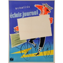 "Original Vintage POSTER for Film Industry Newspaper ""Eclair – Journal"" 1950´s"