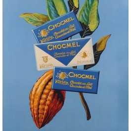 "Original Vintage Swiss Chocolate Poster ""Kohler Chocolat"" ca. 1960"