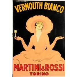 Original Italian Poster Martini Vermouth Bianco by M. Dudovitch