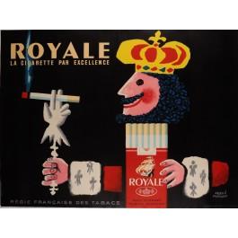 """Original French Tobbocco Poster  S.E.I.T.A. """"Cigarette Royale"""""""